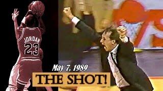 Last 3 Minutes of Bulls vs Cavs Series in 1989 Playoffs: Michael Jordan - THE SHOT!