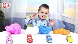 Learn Colors With Disney Cars and Plasticine