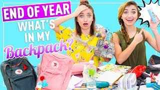 WHAT'S iN MY BACKPACK 2018  (School's Out Senior Edition)   Brooklyn and Bailey