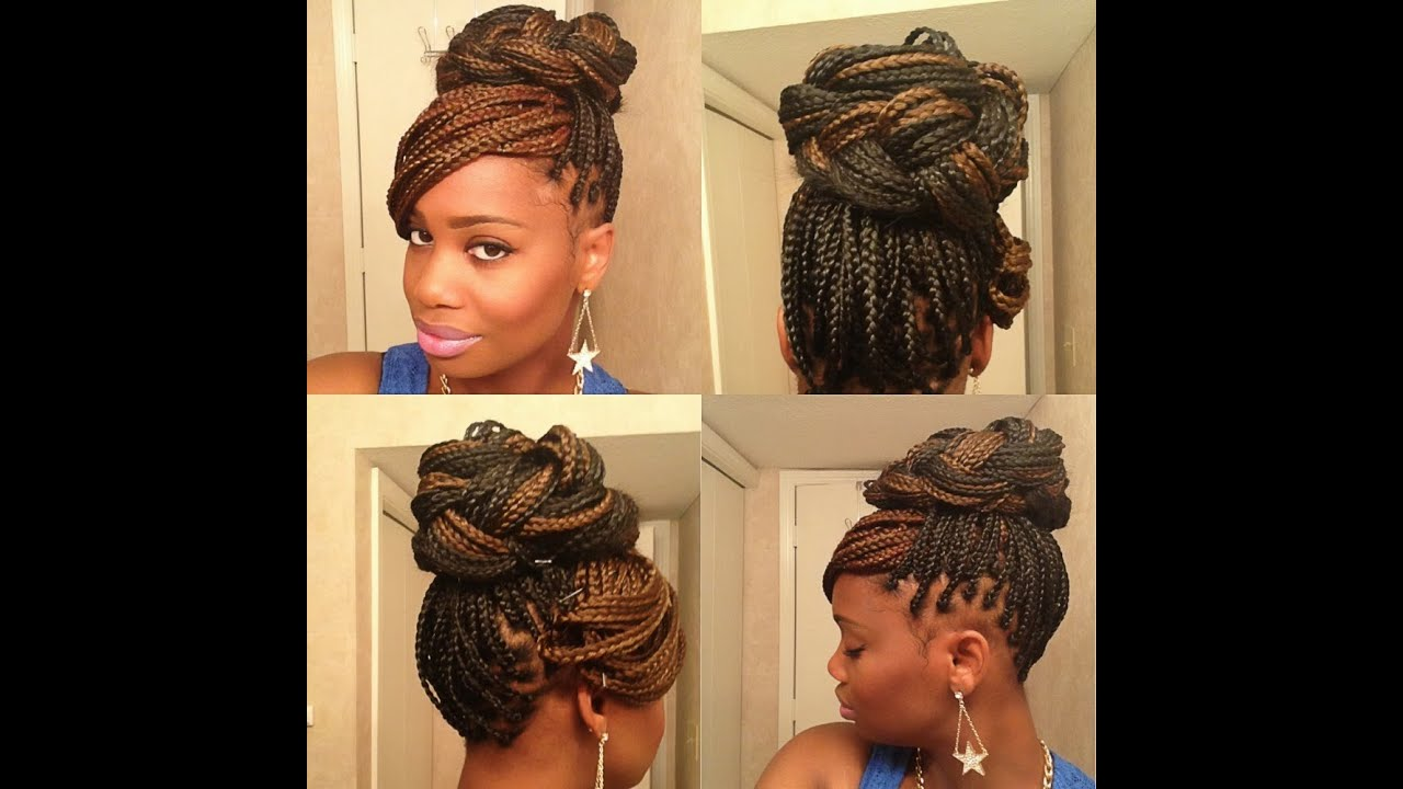 Box Braids Hairstyles Youtube: 3 Easy Styles For Box Braids