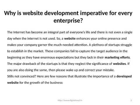Why is website development imperative for every enterprise?