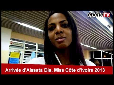 Aissata Dia - Miss Côte D'Ivoire à Nsimalen