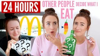 Letting OTHER PEOPLE Decide What I EAT For 24 HOURS...   Sophie Louise