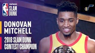 Donovan Mitchell Wins 2018 Verizon Slam Dunk Contest