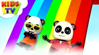 Rainbow Colors Song | Baby Bao Panda | Kindergarten Nursery Rhymes For Children