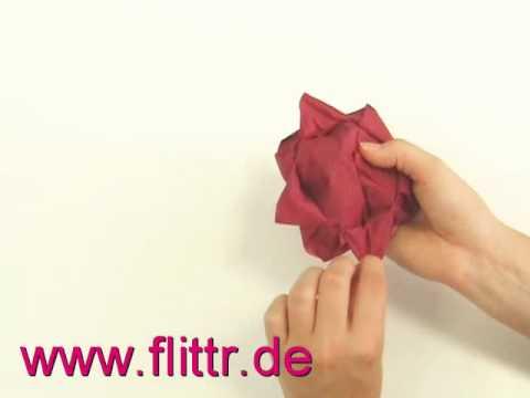 Servietten Falten Lotusblüte : servietten falten bl te lotusbl te youtube ~ Watch28wear.com Haus und Dekorationen