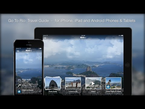 Rio de Janeiro Travel Guide App: iPhone, iPad, Android Phone & Tablet