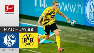 Beast Mode Haaland! FC Schalke 04 - Borussia Dortmund   0-4   All Goals   Matchday 22 – Bundesliga