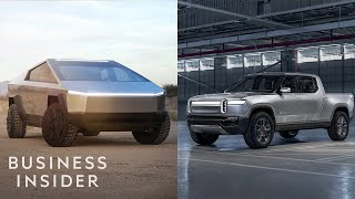 How Tesla's Cybertruck Stacks Up Against The Rivian R1T Electric Truck