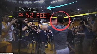 Stephen Curry FULL COURT TUNNEL SHOTS