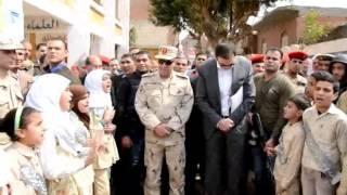 محافظ بنى سويف و قائد المنطقة المركزية العسكرية يتفقدان 3 مدارس بـ3 مراكز بالمحافظة