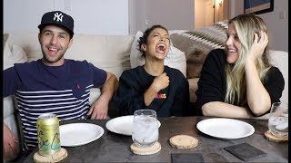 EATING OUR FEELINGS WITH LIZA KOSHY AND MY WIFE! PART 1