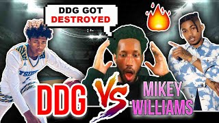 DDG- 1V1 AGAINST 16 Year Old Mikey Williams! (Intense) | REACTION!