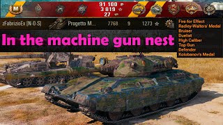 In the machine gun nest 🔝 World of Tanks 🔝 Progetto M40 mod. 65 ✔️