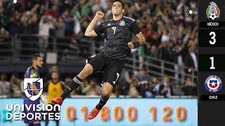 México 3-1 Chile - GOLES Y RESUMEN – JUEGO AMISTOSO