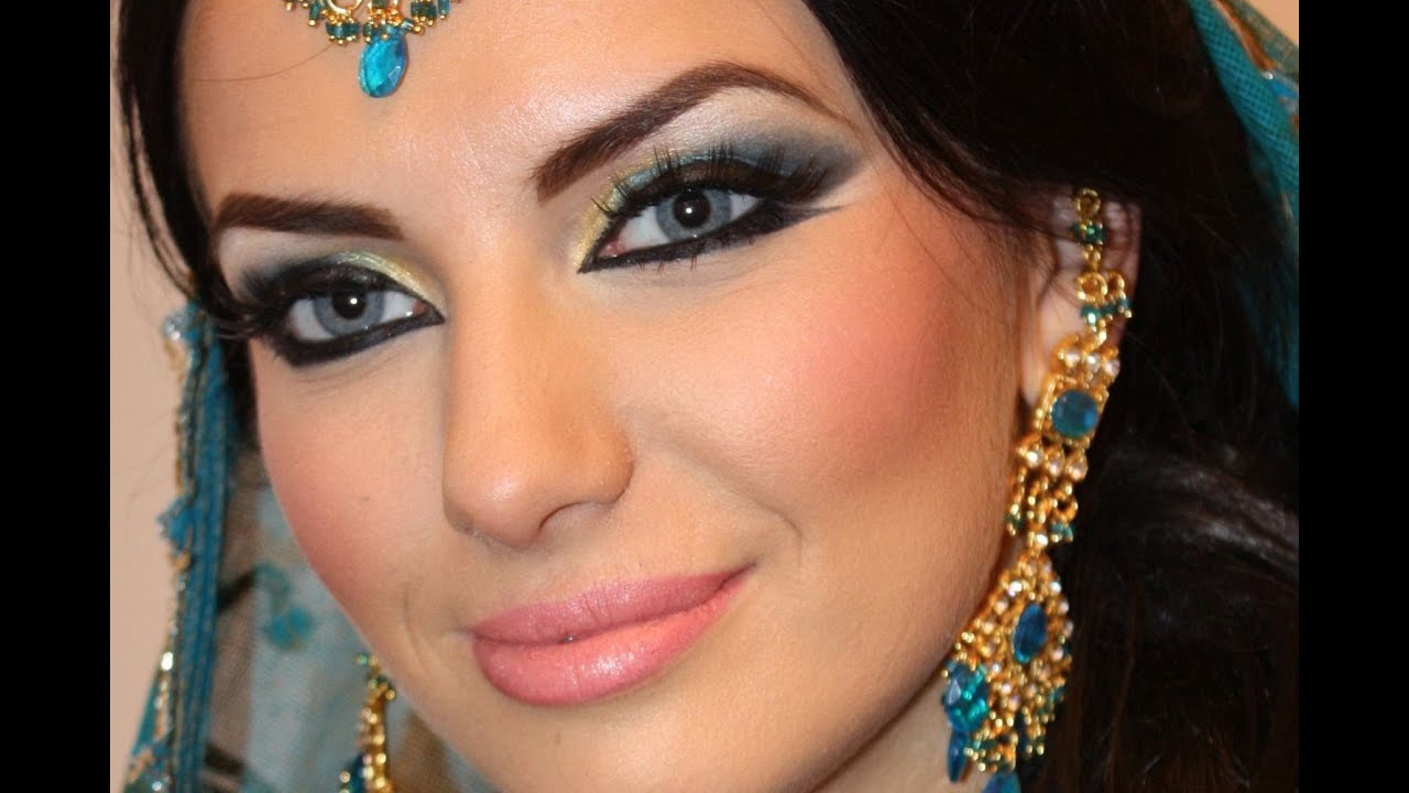 Exotic Arabic Makeup Real Princess Jasmine Makeup ماكياج ...