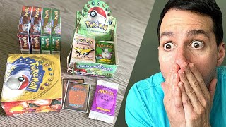 *WOMAN FINDS TWO OF THE RAREST CARDS IN STORAGE!* Pokemon Cards Opening!