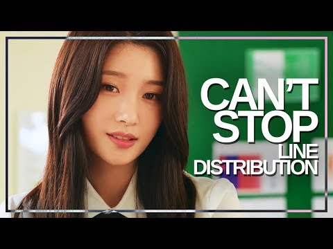 DIA(다이아) - Can't Stop : Line Distribution (Color Coded)