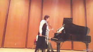 Megumi Matsumoto Violin 🎻 Violin Sonata No.1 by Gabriel Faure 1st movement 💐December.9 2018