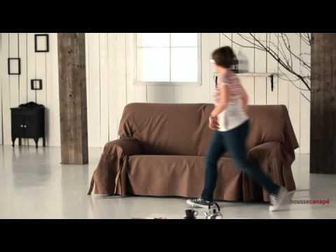 Housse pour canapé avec lacets ajustables - YouTube