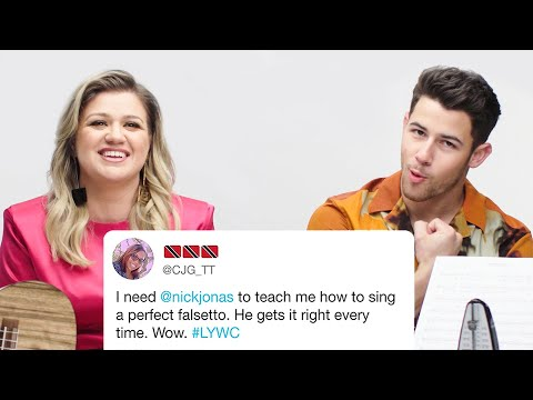 Nick Jonas and Kelly Clarkson Answer Singing Questions from Twitter | Tech Support | WIRED