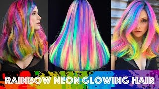 Rainbow Neon Glowing Hair
