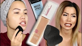 NEW (IT'S BACK!) MAYBELLINE 24HR SUPERSTAY FULL COVERAGE FOUNDATION | WEAR TEST REVIEW