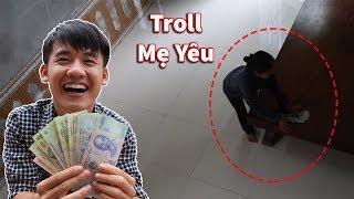 Hưng Vlog - Thử Lòng Mẹ Với 6.000.000 Vnd Và Cái Kết   Troll Mẹ Yêu