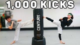 1,000 Kick Training Session | Taekwondo