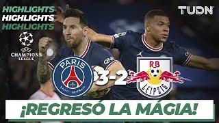 Highlights | PSG 3-2 RB Leipzig | Champions League 21/22 - J3 | TUDN