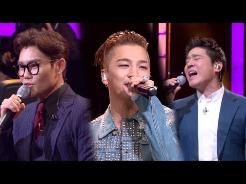 Taeyang & Kim Bum Soo & Lim Chang Jung, singing 'Eyes Nose Lips' 《Fantastic Duo》판타스틱 듀오 EP01