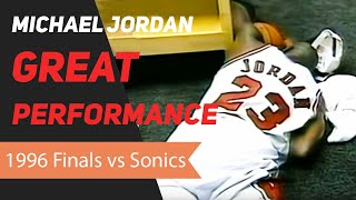 Michael Jordan 1996 NBA Finals Great Performance