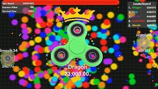 Fisp.io 23,000,000 WORLD RECORD (Green Fidget Spinner)