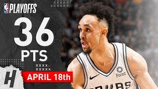 Derrick White Full Game 3 Highlights Spurs vs Nuggets 2019 NBA Playoffs - 36 Pts, Career-HIGH!