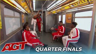WAFFLE NY Subway Dance Crew: Simon's Golden Buzzer PROVE They Deserve To Win!