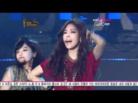 [HD] T-ara - Roly Poly + Lovey Dovey [Live @ KBS The 21st Seoul Music Awards]