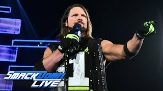 AJ Styles promises to give Daniel Bryan a painful reminder at WWE TLC: SmackDown LIVE, Nov. 27, 20..