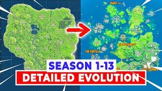 Season 1-13 FORTNITE Map Evolution