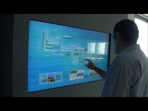 Demonstration of the interactive system Infocloud
