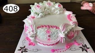 chocolate cake decorating bettercreme vanilla (408) Học Làm Bánh Kem Đơn Giản Đẹp - khò lửa (408)