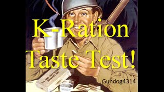 WW2 K-Ration Dinner Taste Test ~Reproduction~