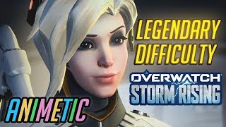 Legendary difficulty: Storm Rising PvE event as Mercy - Overwatch