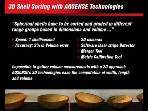 3D Shell sorting with AQSENSE technologies