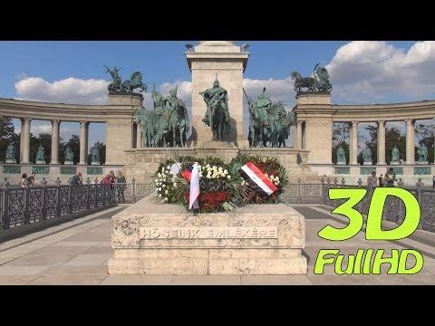 [3DHD] Walking Tour/Gyalogtúra: Heroes' Square / Hősök tere, Budapest, Hungary / Magyarország
