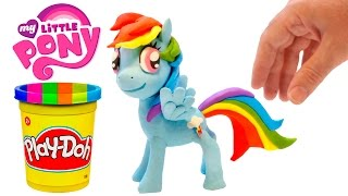 Play Doh Rainbow Dash Stop Motion Playdough My Little Pony Animation