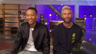 The Voice: Advisors  || Adam Levine and John Legend Soundbites || SocialNews.XYZ