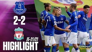 Highlights & Goals | Everton vs. Liverpool 2-2 | Telemundo Deportes