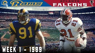 Deion Sanders' FIRST Game! (Rams vs. Falcons, 1989)
