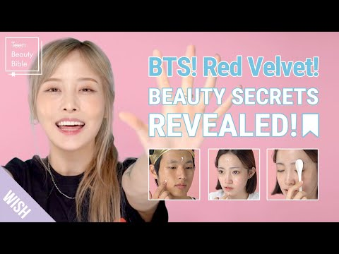 K Pop Idol Beauty Secrets Revealed! BTS & Red Velvet's Tips for Glowing Skin! | Teen Beauty Bible