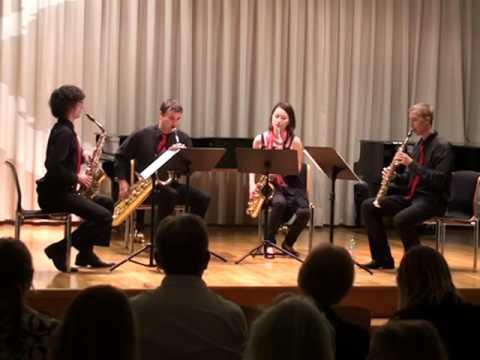 MOBILIS saxophone quartet plays Desenclos Quatuor
